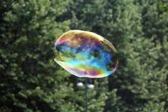 巨型肥皂泡 免版税图库摄影