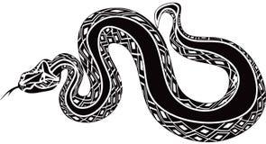 巨型蛇tatoo象 皇族释放例证