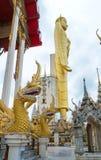 巨型金黄菩萨,佛教,泰国 库存图片