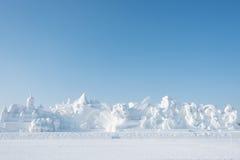 巨型雪全景 免版税库存图片