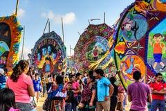 巨型风筝节日,万圣节,危地马拉 免版税图库摄影