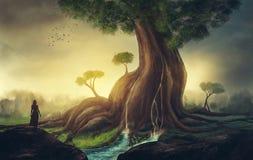 巨型结构树 皇族释放例证