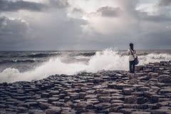 巨型` s堤道,北爱尔兰 免版税库存照片