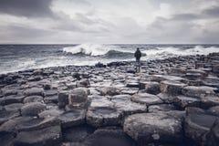 巨型` s堤道,北爱尔兰 免版税图库摄影