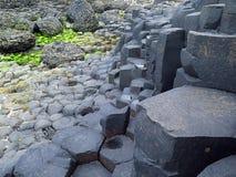 巨型` s堤道` s岩层 免版税图库摄影