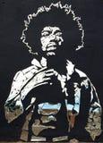 Jimi Hendrix打破的镜子 库存图片