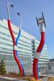 巨型sculputre采取脉冲 库存照片