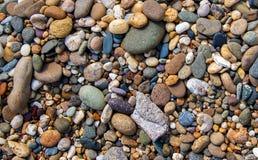 巨大五颜六色的石头背景 免版税库存照片