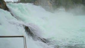 巨大和强大莱茵瀑布 影视素材