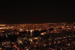 巨大夜在纽约 库存图片
