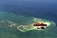 巨大岩层罗卡角,卡斯卡伊斯,葡萄牙 库存照片