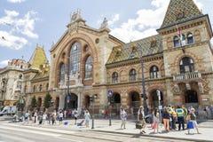 巨大市场霍尔,布达佩斯,匈牙利 图库摄影