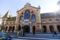 巨大市场霍尔,布达佩斯 免版税库存照片