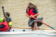 巨大河种族 库存图片