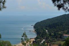 巨大海岛风景 免版税库存照片