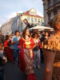 巨大玩杂耍的鲁布林游行波兰 免版税库存照片