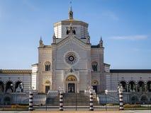 巨大的公墓在米兰,意大利 免版税库存图片