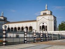 巨大的公墓在米兰,意大利 库存图片