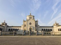 巨大的公墓,米兰,伦巴第 对公墓的入口,建筑学 图库摄影