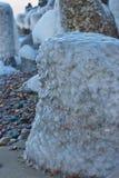 巨大的冰冷的石头 库存照片
