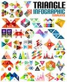 巨大的几何形状infographic模板集合 库存图片