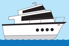 巨大的动画片游艇 向量例证