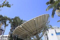 巨大的卫星盘 库存照片