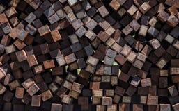 巨大的堆未使用的铁路瓦片 免版税图库摄影