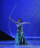 巨大的弓这舞蹈戏曲神鹰英雄的传奇 免版税库存照片