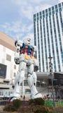 巨大的意想不到的机器人在Odaiba 库存照片