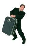 巨大的手提箱 免版税库存照片