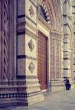巨大的托斯卡纳-锡耶纳中央寺院  库存图片