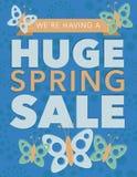 巨大的春天销售海报以传染媒介文件格式 免版税库存图片
