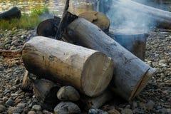 巨大的木柴 库存图片
