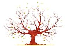 巨大的树例证 库存图片