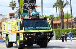 巨大的消防车 图库摄影