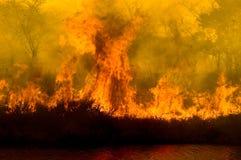 巨大的火焰 免版税库存图片