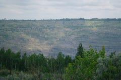 巨大的煤炭裁减 图库摄影