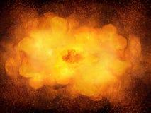 巨大的现实热的爆炸,与火花的橙色颜色 库存例证