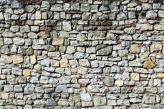 巨大的石墙纹理背景 免版税图库摄影