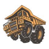 巨大的积极的建筑卡车 皇族释放例证
