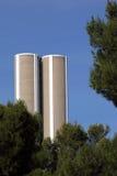 巨大的筒仓结构树 库存图片
