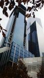 巨大的蓝色大厦 库存图片
