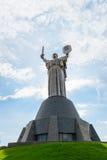 巨大的雕象母亲祖国在基辅,乌克兰 库存图片