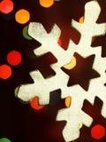 巨大的雪花和魔术bokeh 免版税图库摄影