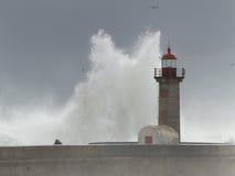 巨大的风雨如磐的通知 库存图片
