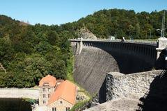 巨大的水坝Pilchowice 免版税库存照片