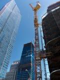 巨大的建造场所在街市旧金山 库存照片