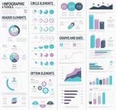 巨大的infographic传染媒介元素设计师被设置 库存照片