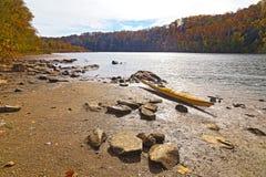 巨大秋天国家公园在秋天,弗吉尼亚美国 免版税库存照片